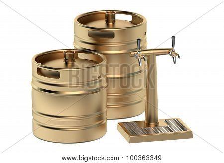 Beer Kegs And Tap