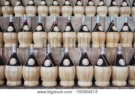 Wicker Wine Bottles