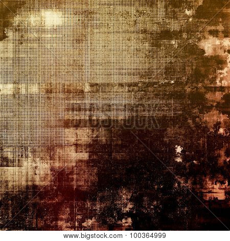 Old abstract texture with grunge stains. With different color patterns: yellow (beige); brown; black; gray