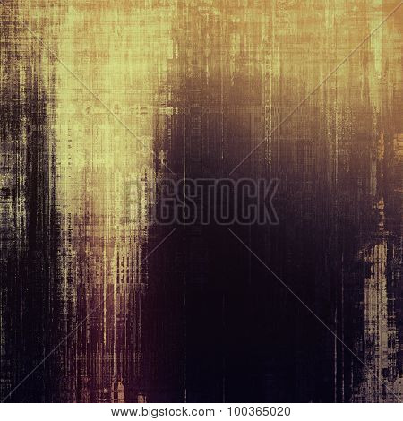 Colorful designed grunge background. With different color patterns: yellow (beige); brown; black; purple (violet)