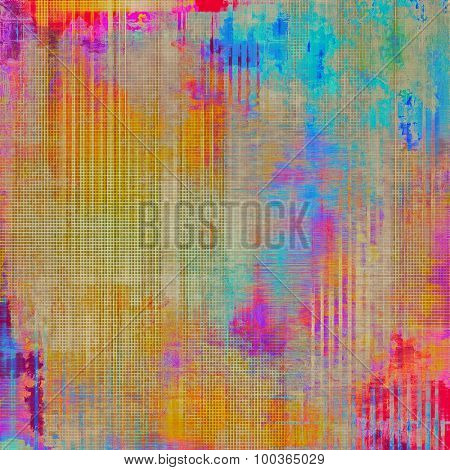 Old antique texture (for background). With different color patterns: yellow (beige); blue; red (orange); pink