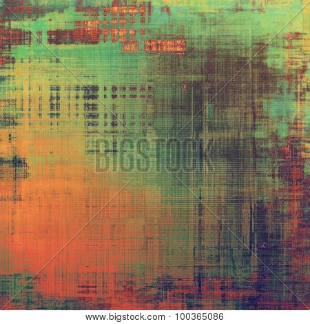 Old Texture or Background. With different color patterns: brown; green; red (orange); purple (violet)