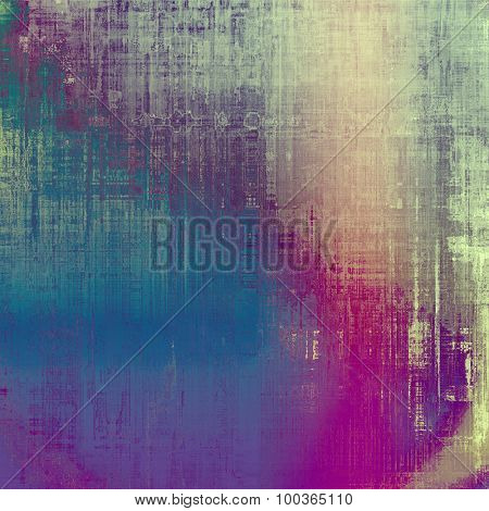 Colorful designed grunge background. With different color patterns: blue; pink; gray; purple (violet)