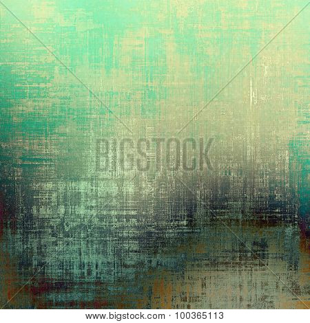 Dirty and weathered old textured background. With different color patterns: yellow (beige); brown; blue; green