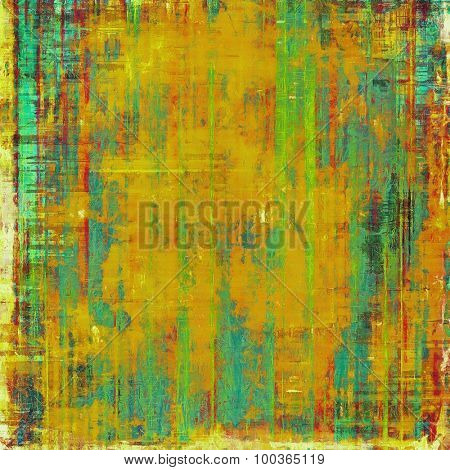Old texture - ancient background with space for text. With different color patterns: yellow (beige); brown; blue; green