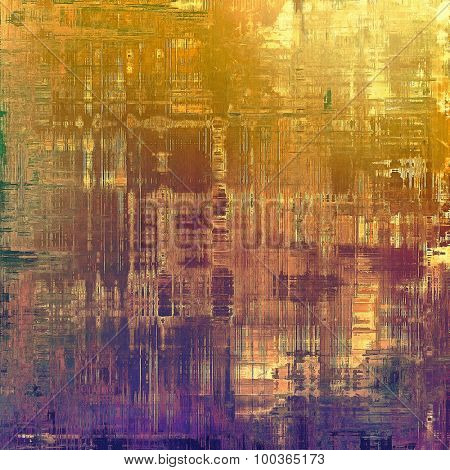 Old ancient texture, may be used as abstract grunge background. With different color patterns: yellow (beige); brown; red (orange); purple (violet)
