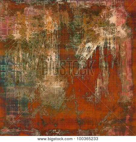Colorful vintage texture. With different color patterns: yellow (beige); brown; green; red (orange)