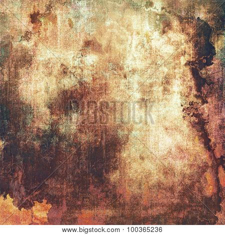 Grunge aging texture, art background. With different color patterns: yellow (beige); brown; black; gray