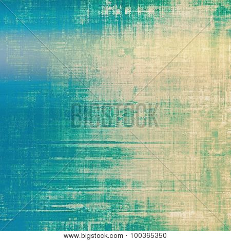 Old-style background, aging texture. With different color patterns: yellow (beige); blue; cyan; green