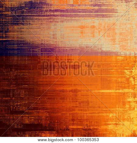 Designed grunge texture or background. With different color patterns: yellow (beige); brown; red (orange); purple (violet)