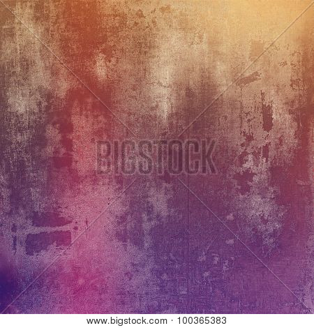 Aging grunge texture, old illustration. With different color patterns: brown; red (orange); pink; purple (violet)
