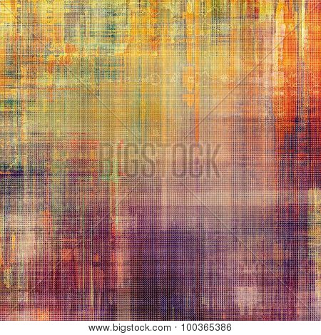 Abstract retro background or old-fashioned texture. With different color patterns: yellow (beige); green; red (orange); purple (violet)