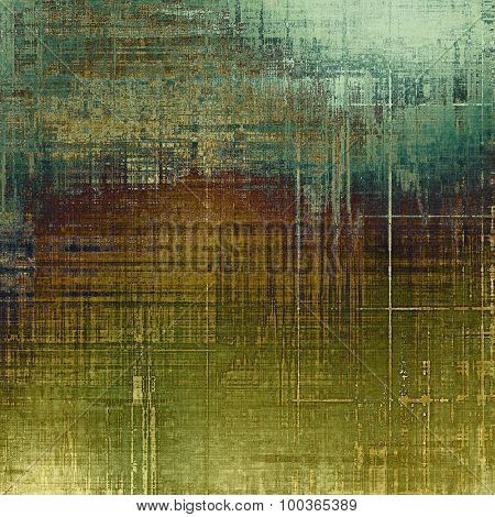 Abstract grunge background. With different color patterns: yellow (beige); brown; blue; green