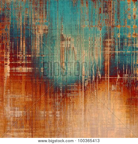 Textured old pattern as background. With different color patterns: yellow (beige); brown; blue; red (orange)