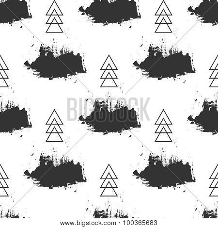 Seamless grunge pattern. Brush strokes texture