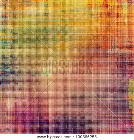 Grunge old-fashioned background with space for text or image. With different color patterns: yellow (beige); green; red (orange); purple (violet)