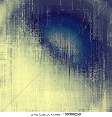 Grunge aging texture, art background. With different color patterns: yellow (beige); blue; cyan; gray