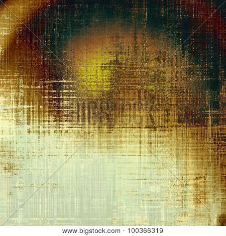 Abstract distressed grunge background. With different color patterns: yellow (beige); brown; black; gray