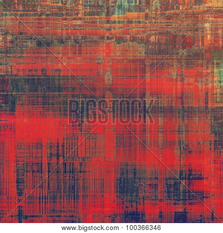 Old abstract grunge background for creative designed textures. With different color patterns: brown; green; red (orange); purple (violet)