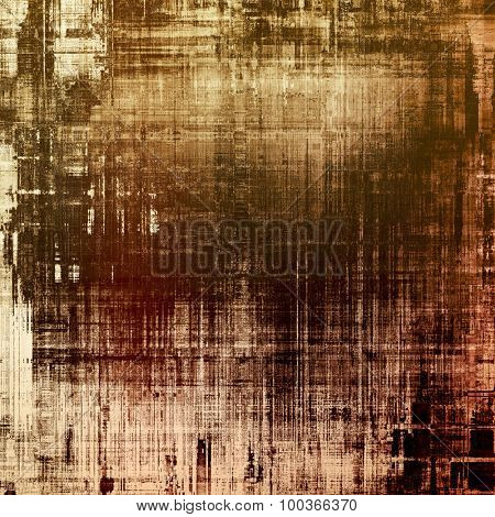 Retro background with old grunge texture. With different color patterns: yellow (beige); brown; black; gray