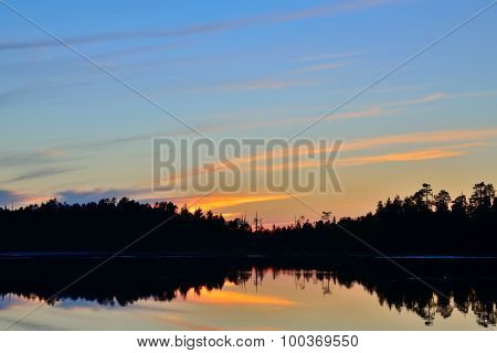 White Nights. Northern Karelia, Russia