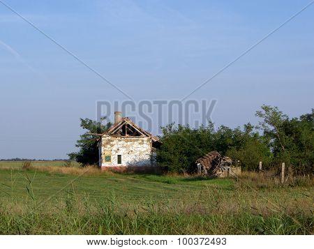 Abandoned dilapidated farmhouse
