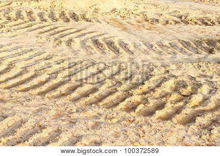 Wheel Track And Foot Print