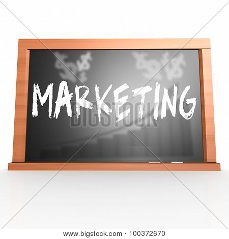 Black Board With Marketing Word