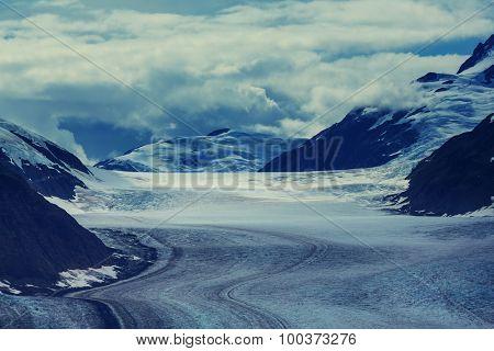 Salmon glacier in Stewart,Canada. Instagram filter.