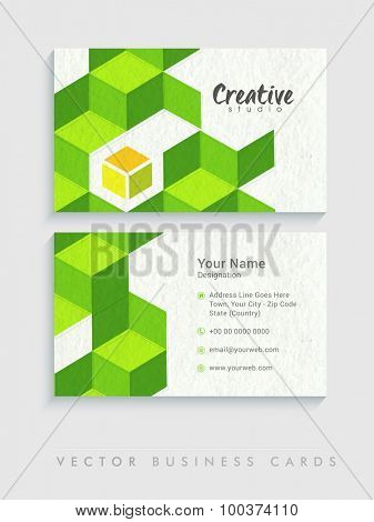 Abstract two sided business or visiting card set for Creative Industry.