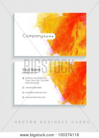 Colorful business or visiting card set for Creative Industry or Design Studio.