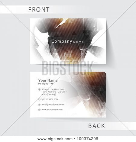 Creative professional business card design with front and back side presentation.