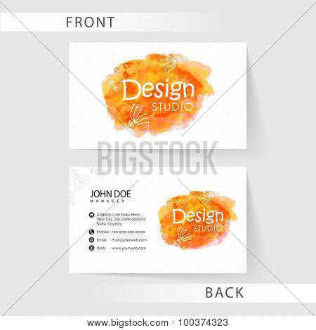 Stylish business card set with front and back side presentation for Creative Industry.