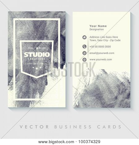 Abstract business card set with two sided presentation for Design Studio.