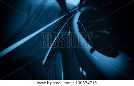 3D cyber futuristic background