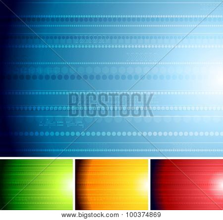 Abstract technology backgrounds. Vector design
