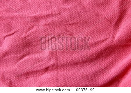 Background of red cloth with pleats