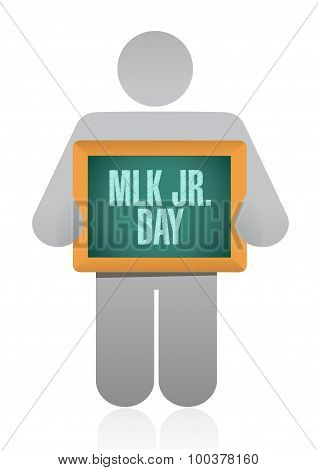 Mlk Jr. Day Board Sign Illustration Design