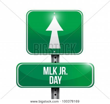 Mlk Jr. Day Road Sign Illustration Design