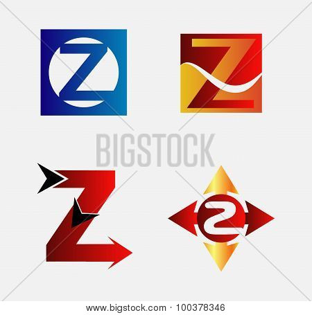 Letter Z Logo Icon set