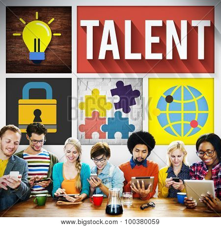 Talent Skill Experience Expertise Professional Concept