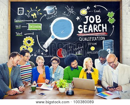 Ethnicity Business People Meeting Job Search Planning Concept