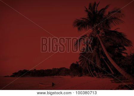 Tropical beach Seascape Tropical Island Concept