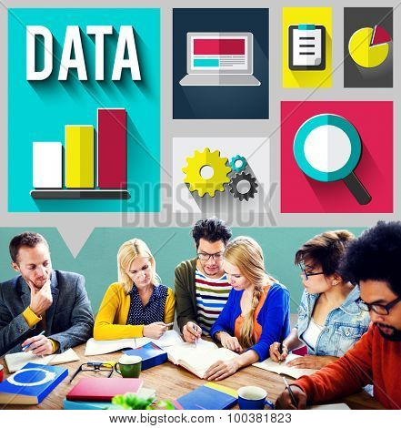 Data Information Cloud Center Communications Concept