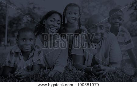 Family Togetherness Unity Parents Son Daughter Concept