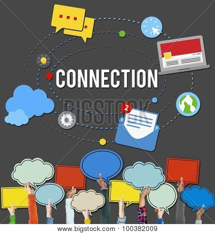 Connection Community Teamwork Technology Concept
