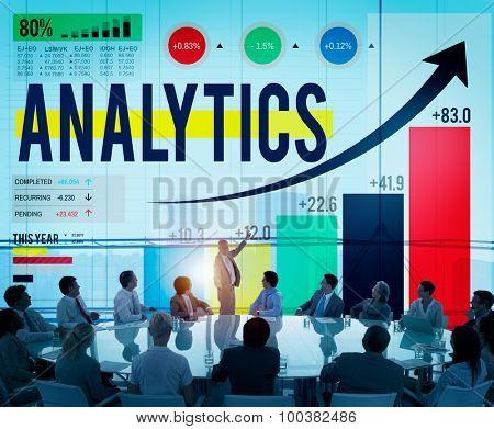 Analytics Analysis Data Statistics Technology Information Concept
