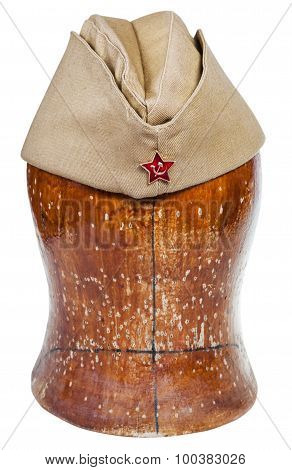 Military Field Cap With Soviet Red Star Sign
