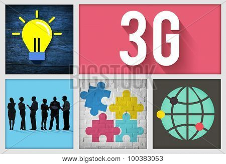 3G Connection Technology Internet Network Concept