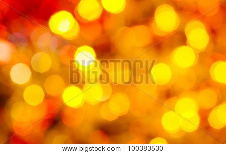 Dark Yellow And Red Twinkling Christmas Lights
